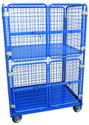 two-tier-warehouse-stock-trolley-with-gatestwo-tier-warehouse-stock-trolley-with-gates